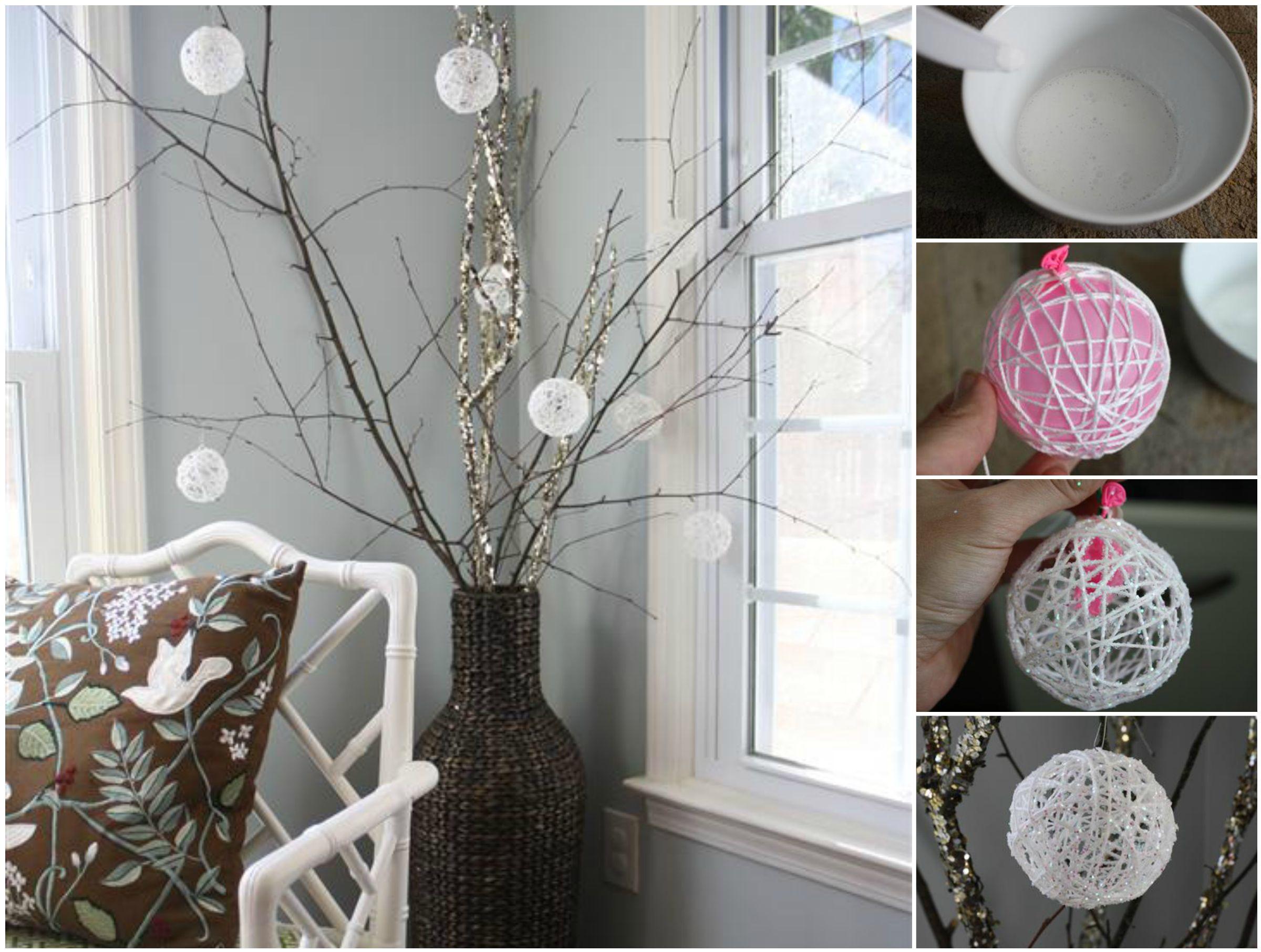 Creative Ideas  DIY Glittery Snowball Christmas Ornaments