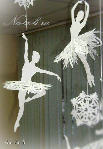 Creative Ideas  DIY Beautiful Snowflake Ballerinas from Templates