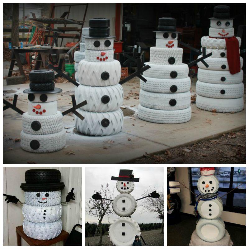 Creative Ideas  DIY Adorable Snowman Using Yarn and