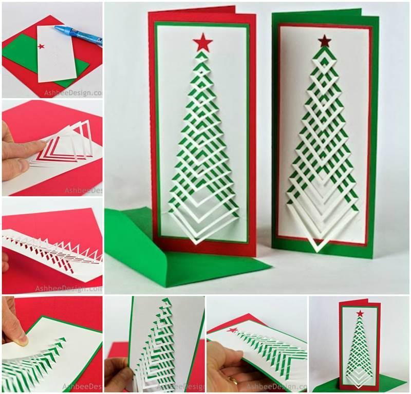 s creative ideas diy chevron design christmas tree card