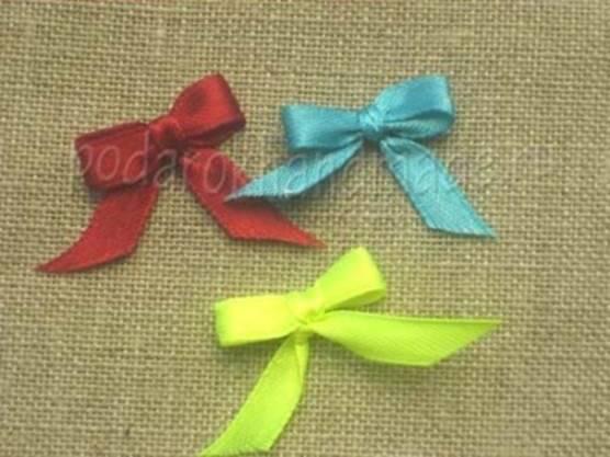 Idéias criativas - DIY cetim fita arco com uma forquilha 8