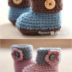 Crochet Baby Booties Diagram Www Electrical Wiring Diagrams 40 Adorable And Free Patterns Cuffed