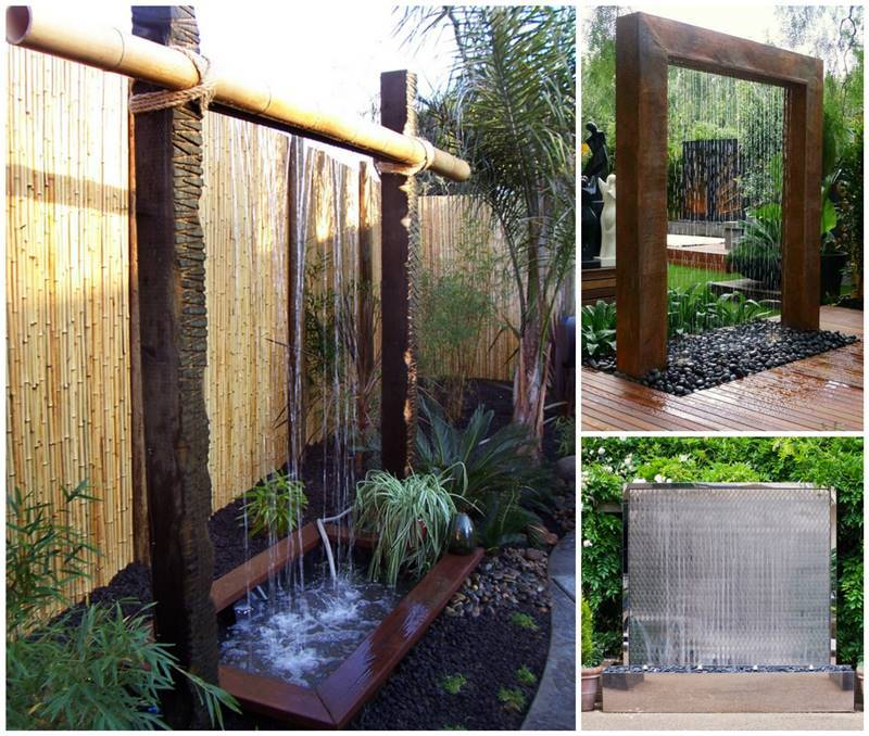Creatve Ideas DIY Stunning Outdoor Water Wall