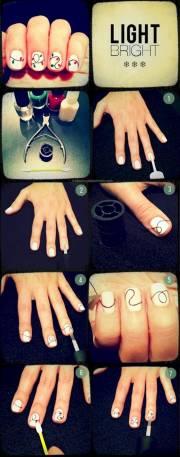 creative diy nail art design