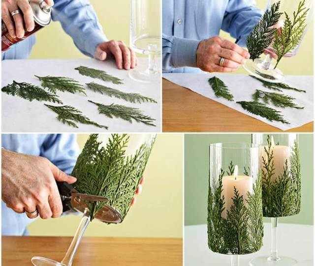 Creative Diy Holiday Candles Projects Evergreen Candle Holder