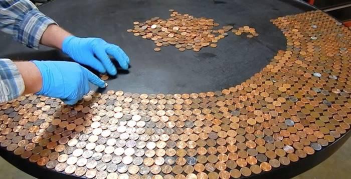 diy amazing penny table top