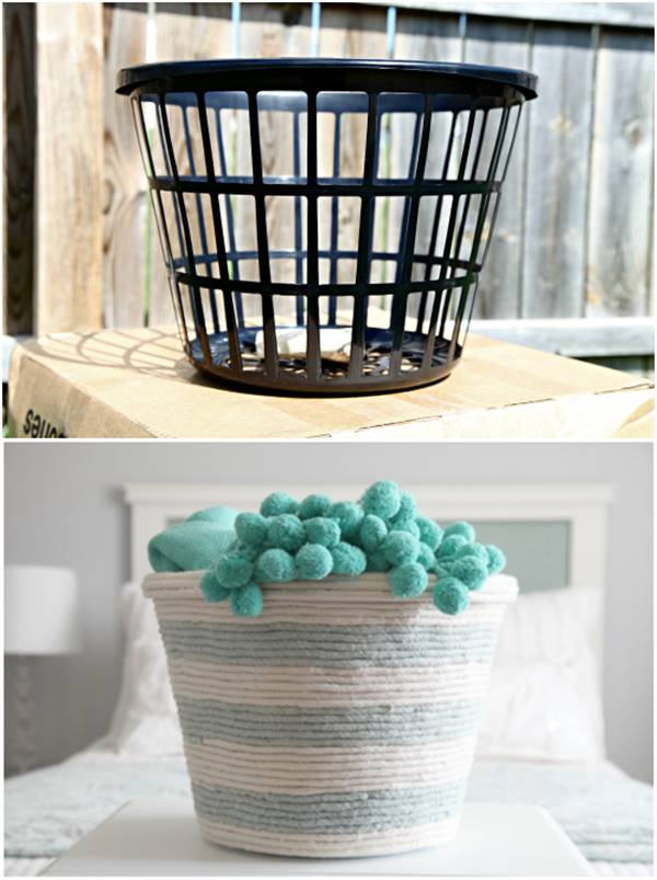 Creative Ideas  DIY Rope Basket From A Dollar Store
