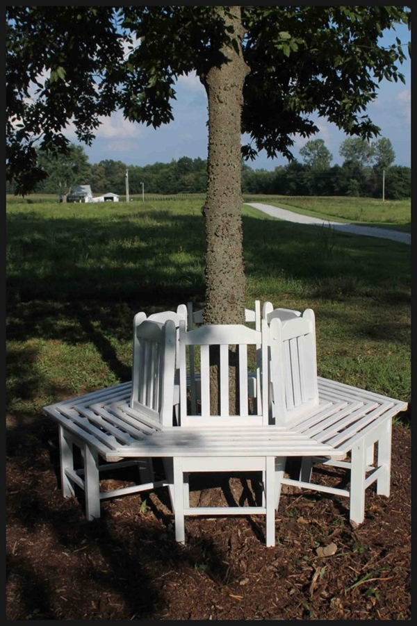 Creative Ideas  How to Build a Bench Around a Tree Using