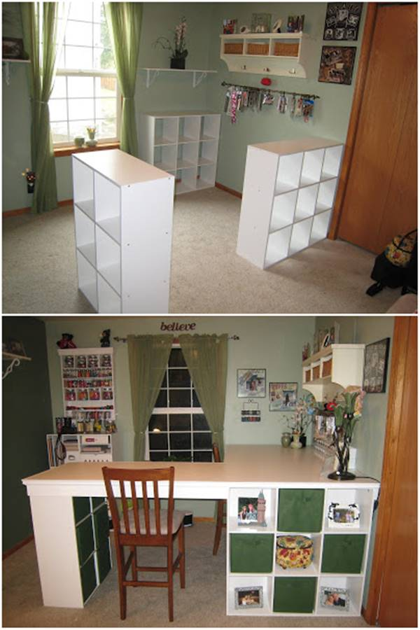 25 Creative DIY Projects to Make a Craft Table  i Creative Ideas