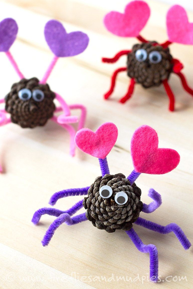 Pinecone Love Bugs
