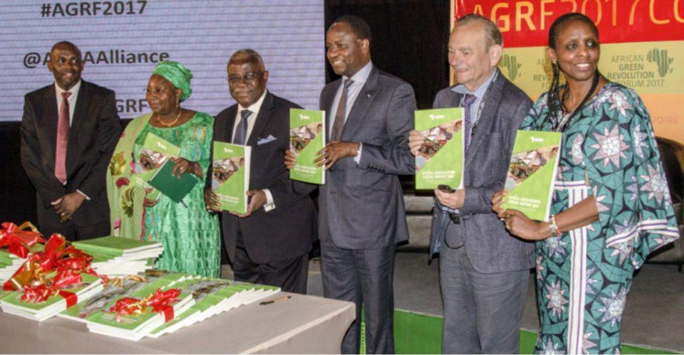 """Launch of the Africa Agriculture Status Report (ASSR) 2017 """"The Business of Smallholder Agriculture in Sub-Saharan Africa"""" at AGRF 2017.Photo: AGRF"""