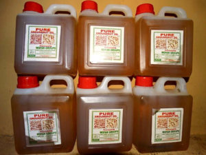 Processed groundnut oil.