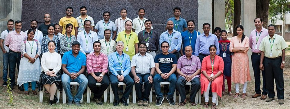 Participants at the GOBII 'Cascadilla' release workshop at ICRISAT. Photo: PS Rao, ICRISAT