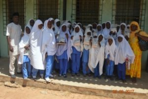 Volunteer students (150 girls and 50 boys) were trained on processing and packaging of sorghum.