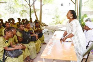 Dr Keita Djeneba Konaté holding the attention of young women at Lycée Notre Dame du Niger. Photos: A. Diama