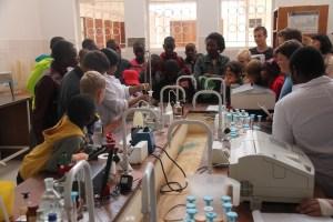 Exploring the food lab Seed samples of ICRISAT mandate crops Photo: ICRISAT Bulawayo