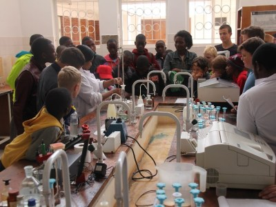 Exploring the food lab Seed samples of ICRISAT mandate crops Photo: ICRISAT Bulawayo