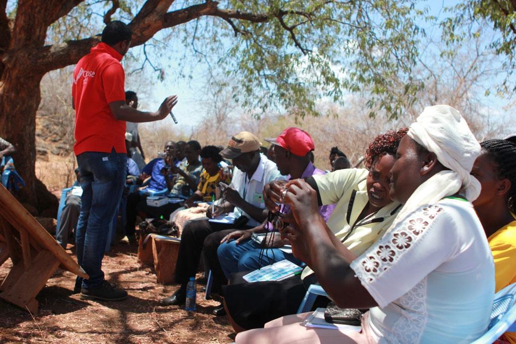 Participants learning the ropes of digital photography. Photo: C Wangari