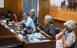 Members discussing ideas, goals and timelines at ICRISAT-India. Photo: S Punna, ICRISAT