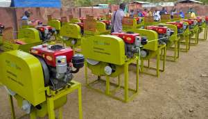 A view of the machines offered to partners. Photos: Dieudonné Diama, ICRISAT
