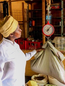 A farmer buying seed from the community seed bank. Photo: ICRISAT