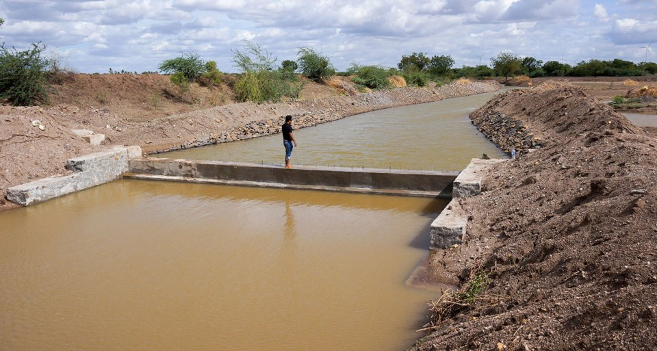 A check dam in Ukkali, Vijayapura district of Karnataka. Photo: D Anil/ SBMMAS
