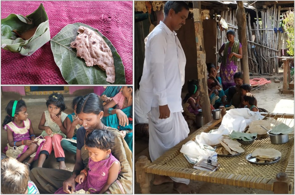 Cooked sorghum (rotis and khichdi) served at the farmers' meeting. Photo credit: Jana Kholová, ISD-SACSA