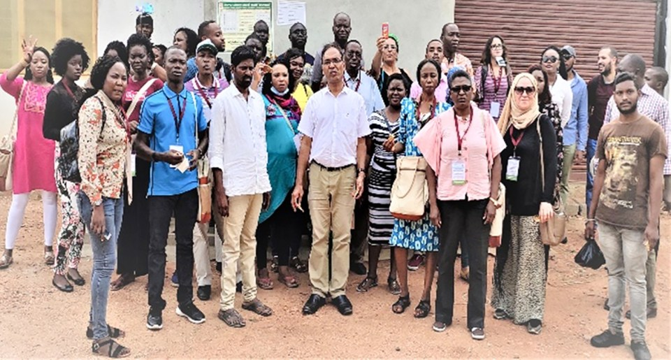 Participants at one of the training programs at ICRISAT-India.