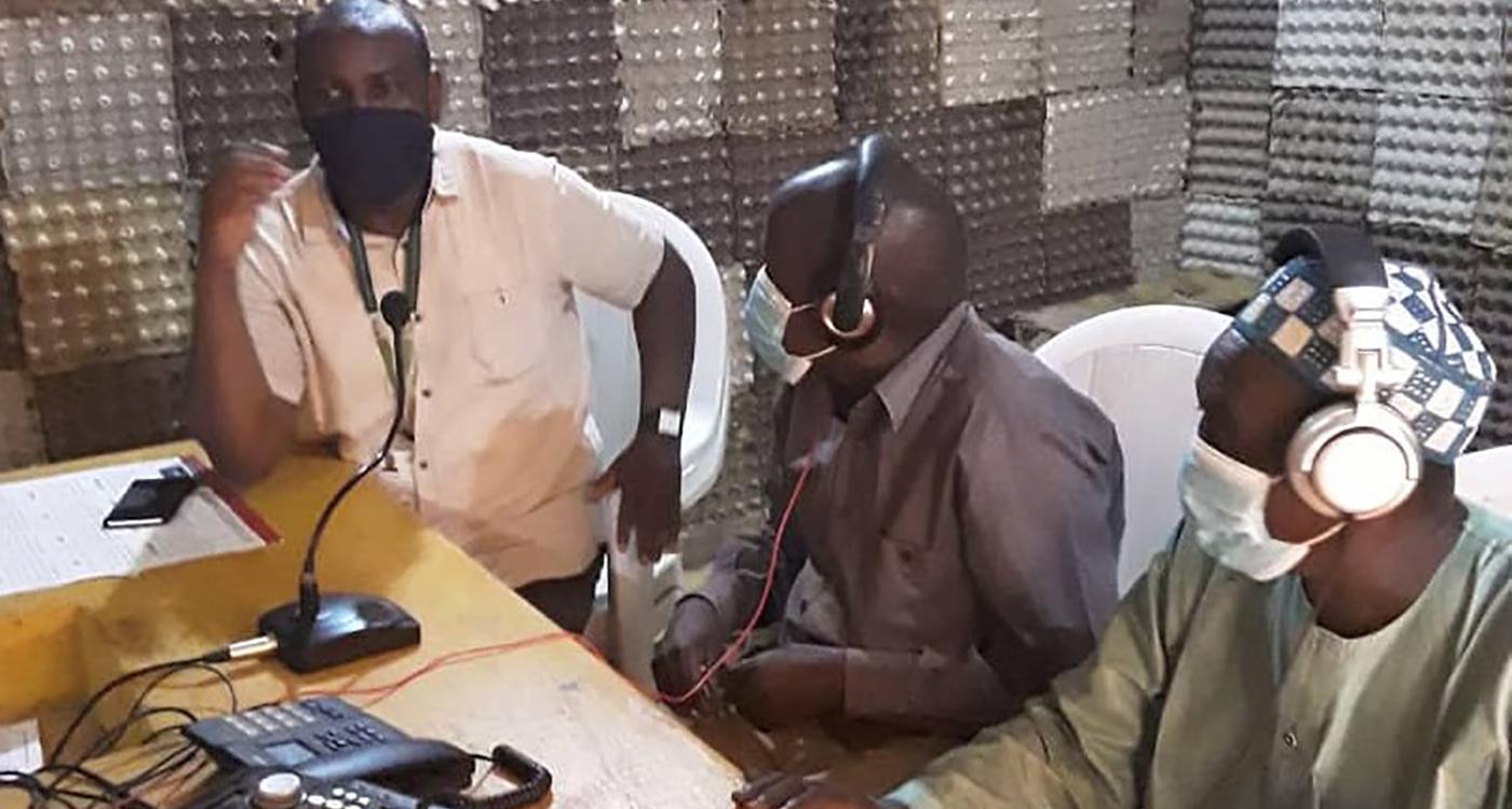 Radio broadcast in Bande district. Photo: ICRISAT