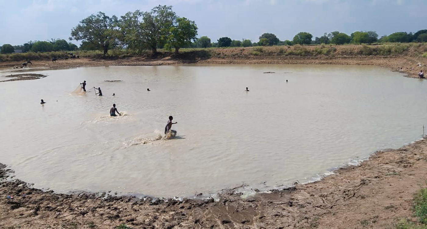 The Devara Tank in Banda district of Uttar Pradesh. Photo: ICRISAT