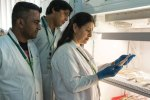 File photo of Dr Mamta Sharma and her team at work in the pathogen lab. Photo: S Punna, ICRISAT