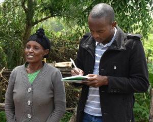 Phillip Miriti (in black) during a field interview in Ethiopia.