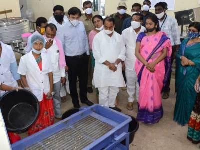 Mr. Indrakaran Reddy, Ms. Ajmera Rekha, MLA Khanapur, and others at the newly opened unit on Monday.