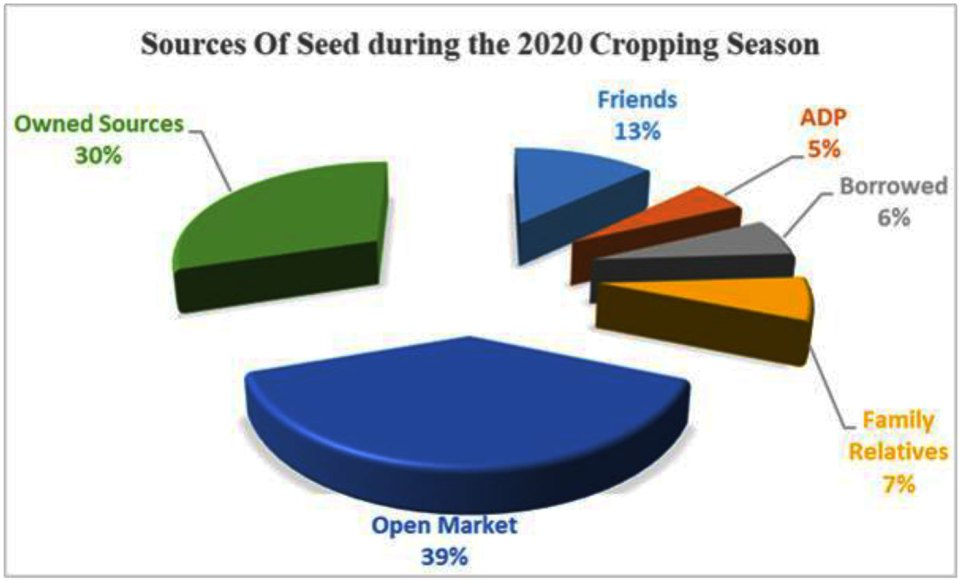 Sources of seeds during the 2020 COVID-19 pandemic in selected states of Northern Nigeria.