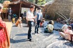 Demonstration of seed dibbler at Bhonsuli village, Nabarangpur district. Photo: ICRISAT Development Center