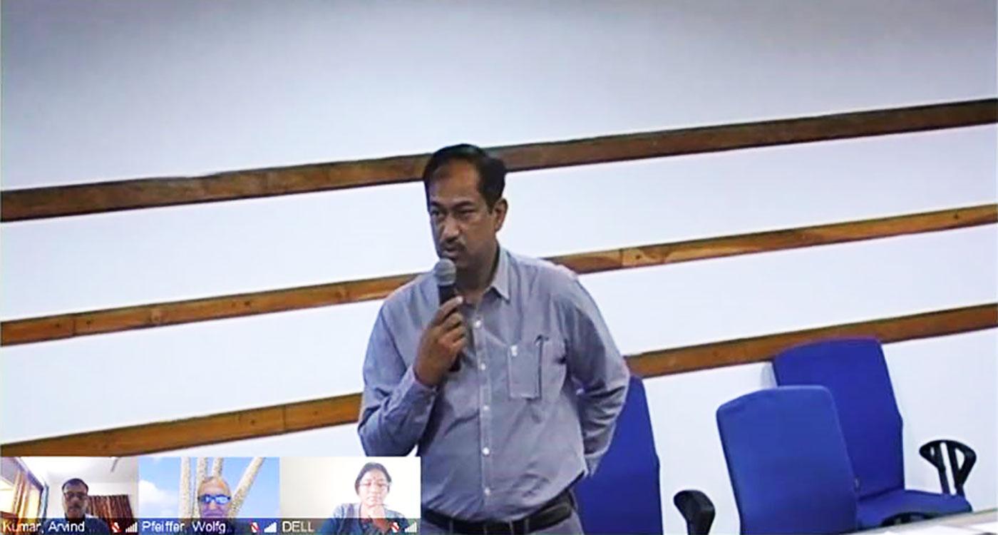Screenshot of the HarvestPlus-ICRISAT virtual meeting.