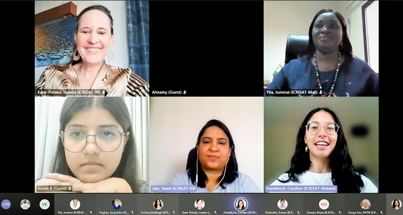 A screenshot of the panel discussion on the occasion. Image: Rajani K, ICRISAT
