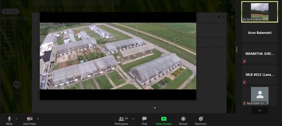 Screenshot of the virtual tour of the campus. Photo: A Balamatti, ICRISAT