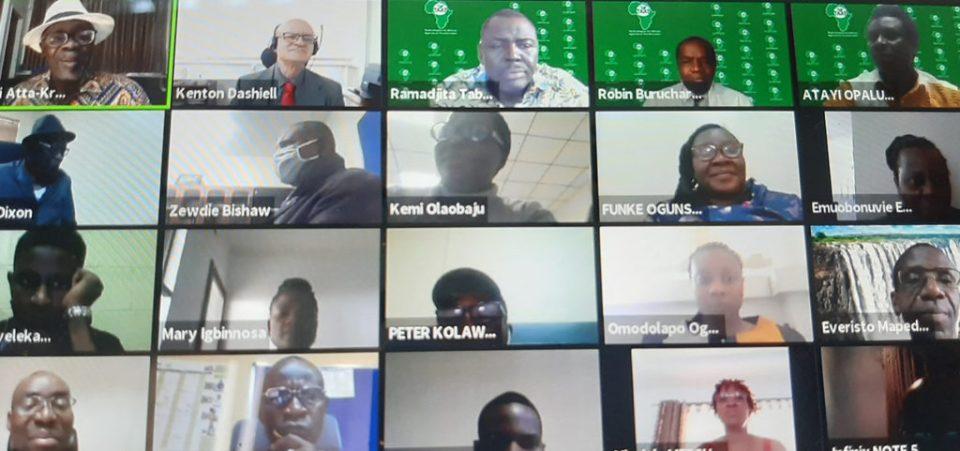 Screenshot of the event. Photo: A Diama, ICRISAT
