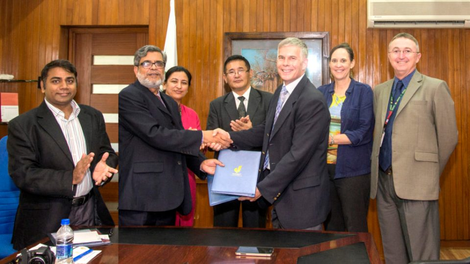 At the MoU signing ceremony. Photo: S Punna, ICRISAT
