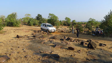The approach road to the village is unmotorable. Photos: V Nagasrinivas Reddy