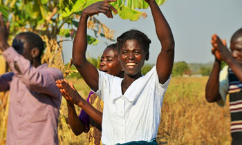 Alifosina Lirambwe became part of a revolving seed fund that gave her good quality groundnut seed.  Photograph: Alina Paul