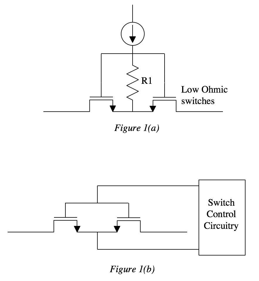medium resolution of high current switch matrix topologies require the use of low ohmic d mos switches the desire to have fast switching times small time constant
