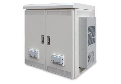 Outdoor Equipment Cabinets with 19 HeavyDuty Racks