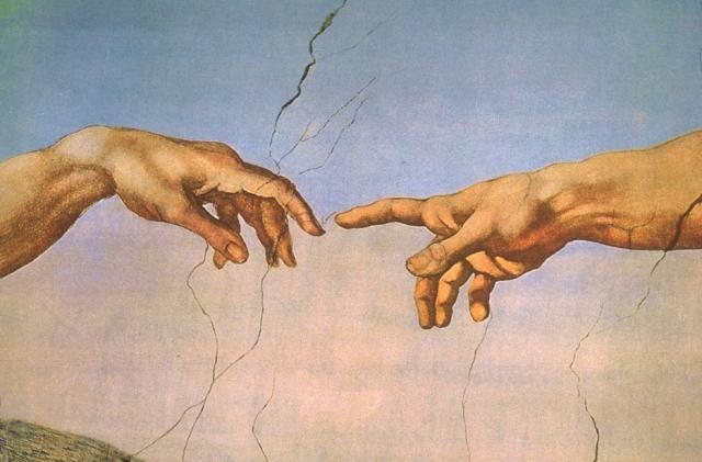 Genesi: Creazione del uomo - mano di Dio e di Adamo