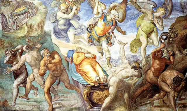 Disputa sul corpo di Mosè - Signorelli e Matteo da Lecce