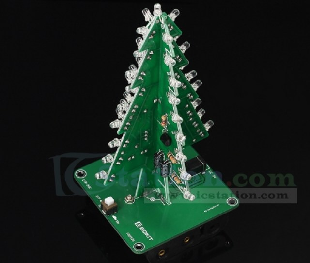 Diy D Xmas Tree Kit Rgb Flashing Led Circuit Kit Colorful Christmas Tree Kit