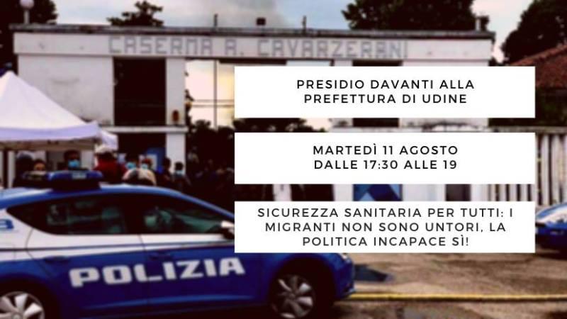 Presidio davanti alla Prefettura di Udine