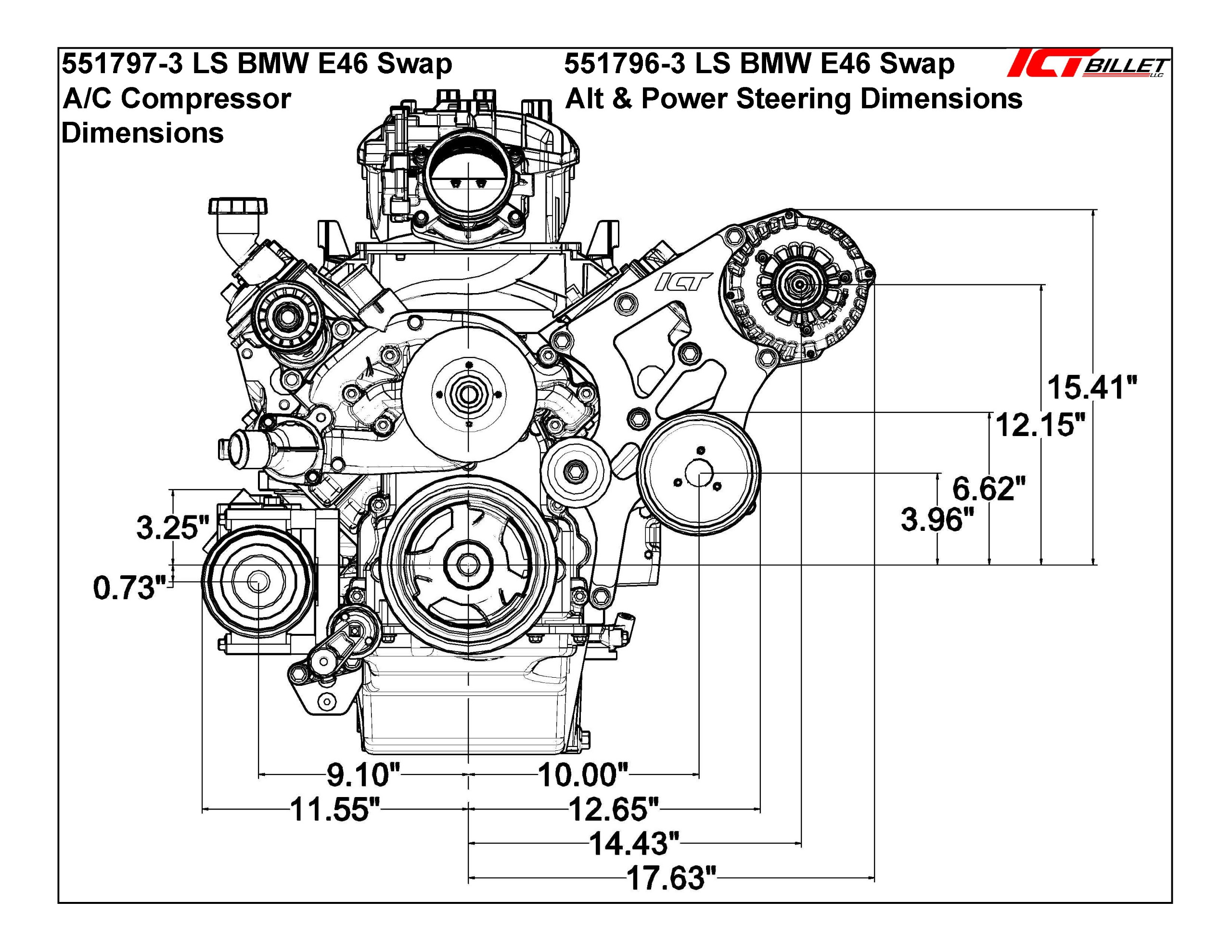 Ls Bmw 330i E46 Swap Alternator Amp Power Steering Bracket