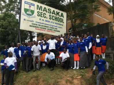 KAWA and UCC Team at Masaka SS